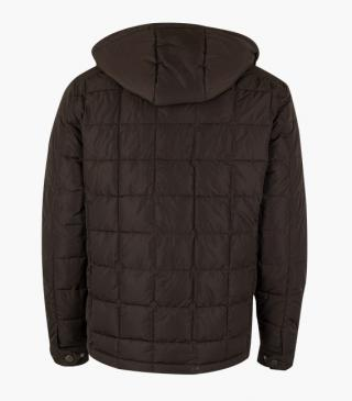 Quilted jacket in brown.
