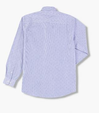 Blue jacquard shirt.
