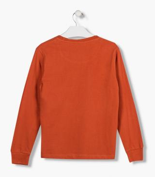 Long sleeve t-shirt with gathered cuffs.