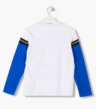 White long sleeve t-shirt.