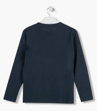 Cotton t-shirt in blue.