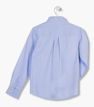 Blue cotton shirt.