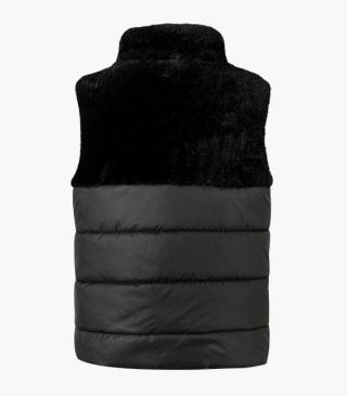 Fabric-mix vest with fleecy panel.