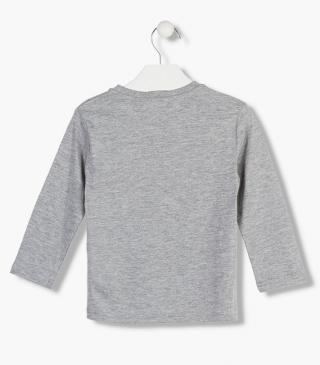 Cotton t-shirt in grey.
