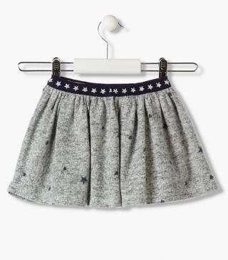 All-over heart & star print skirt.