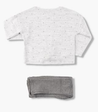 Set featuring a knot tee and paneled trousers.