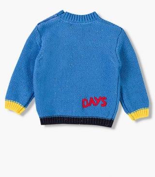 Jumper with graphic embroidery chest.