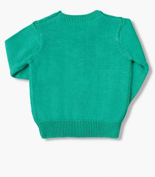 Mint green knit jumper.