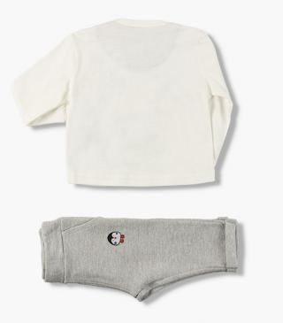 Penguin top & patch trousers set.