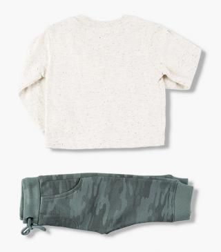 Compass patch top & trousers set.