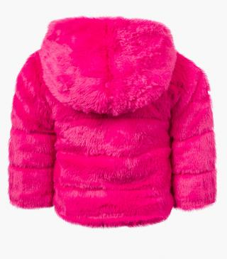 Fleecy pink jacket.