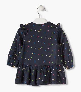 Colourful dot twill dress.