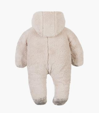 Fluffy two-tone onesie.
