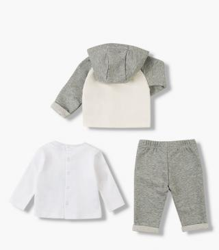 T-shirt, jacket & trousers set.