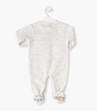 3D hedgehog label sleepsuit.