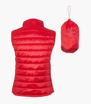 Essential collection lightweight vest with a pouch for woman