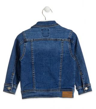 Multisize denim jacket from our essential collection for junior boy