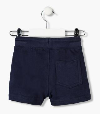 Essential collection unnapped plush shorts for baby boy