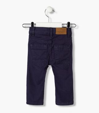 Twill trousers in assorted colours for baby boy