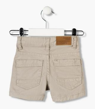 Twill shorts in assorted colours for baby boy