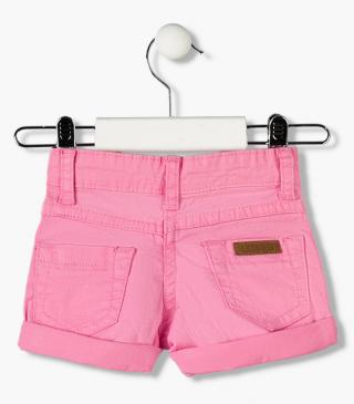 Essential collection twill shorts with snap-button for baby girl