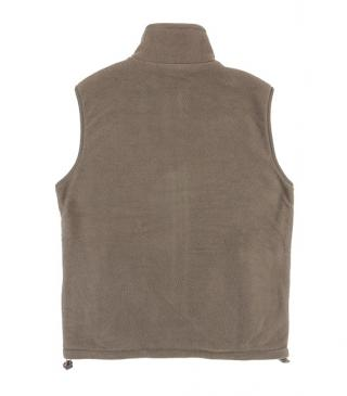 Basic reversible fleece vest with adjuster on hem.
