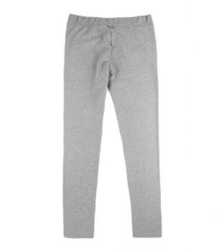 Basic style plush trousers with waistband.