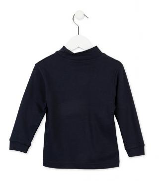 Essential mock turtleneck t-shirt