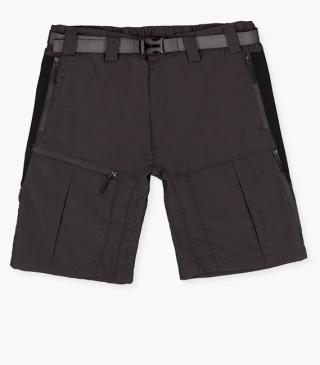 Technical fabric shorts with belt.