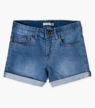 Denim shorts in jersey.
