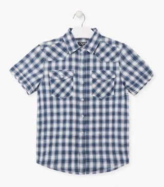 Check shirt made from linen.