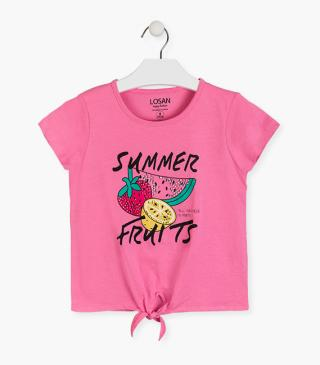 Summer fruit motif t-shirt.