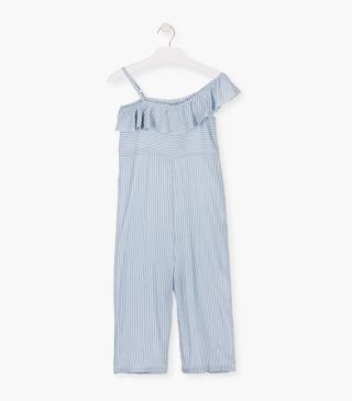 Blue stripe jumpsuit.