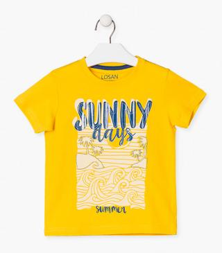 Summery motif t-shirt with short sleeves.