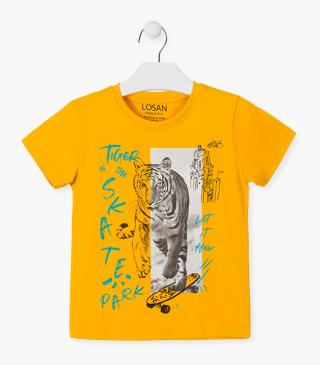 Printed tiger t-shirt.