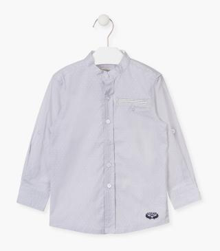 Long-sleeved cotton shirt in grey.