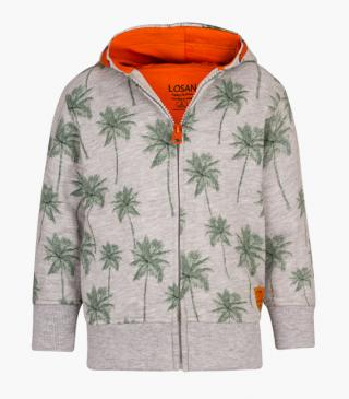 Cotton jacket with palm tree motif.