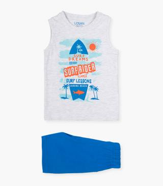 Shorts & surf-themed tank set.