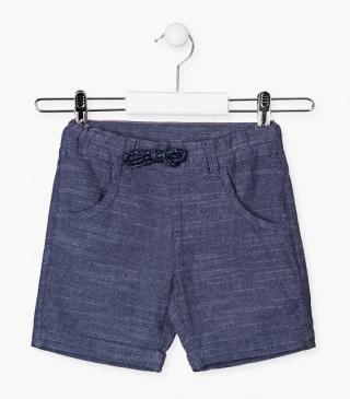 Special cotton shorts in blue.