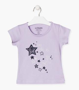 T-shirt featuring stars printed at the front.