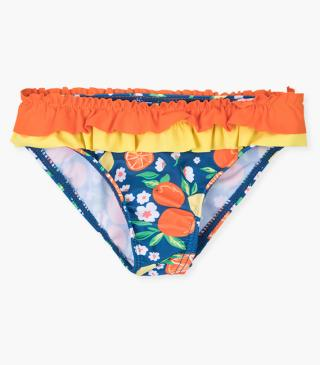 Lemon and orange motif swim bottom.
