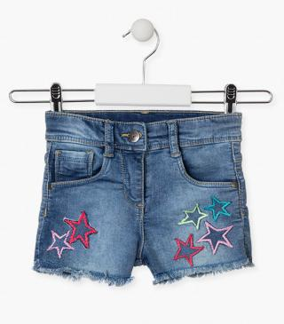 Star patch shorts.
