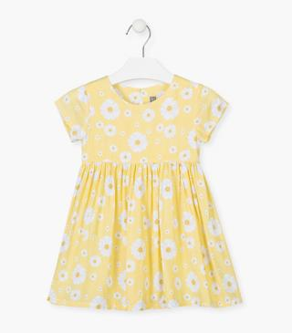 All-over daisy print dress.