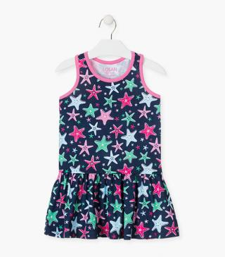 Rainbow starfish motif dress.