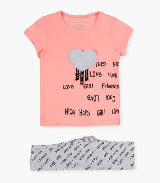 Chest patch t-shirt & leggings set.