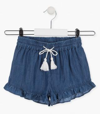 Short in tessuto jeans fluido.