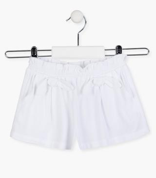 Decorative bow shorts.