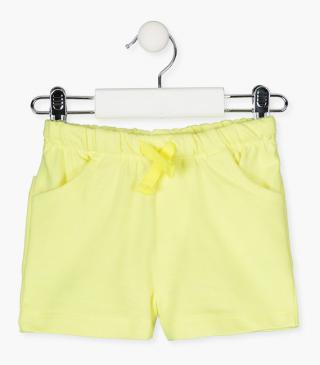 Jersey shorts with pockets.