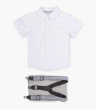 Shorts & short sleeve shirt set.