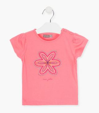 Embroidered flower t-shirt.